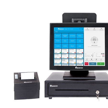 EPOS Now system and receipt printer
