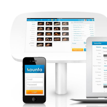 Kounta dashboard on various devices