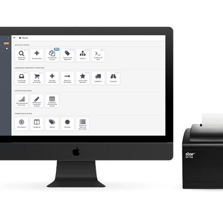 iMac and receipt printer