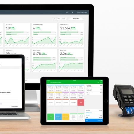 Vend dashboard on various devices