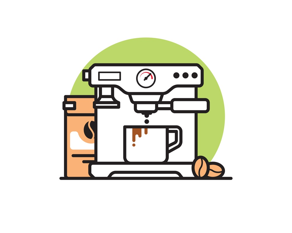 Espresso machine graphic