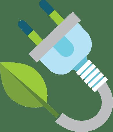 Leaf and electric plug