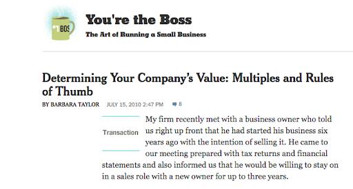 Determining company's value screenshot