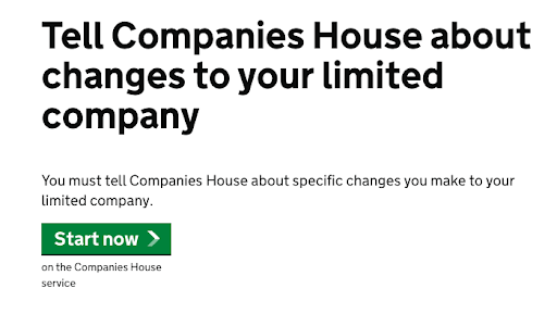 Companies house screenshot