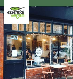 Essential Vegan cafe entrance