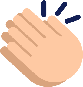 Clapping hands graphic