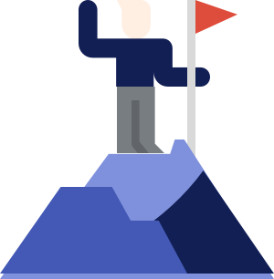 Man on mountain graphic