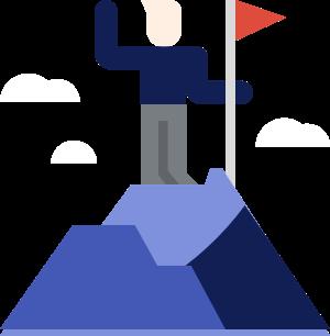 Man on mountain graphic