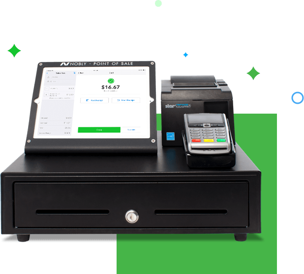 Nobly's QSR iPad & Mobile POS Till System With Card Reader