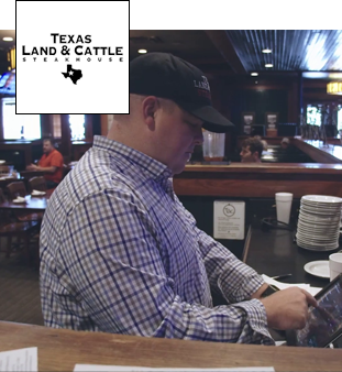 Nobly iPad EPOS review from the Texas Land and Cattle Steakhouse