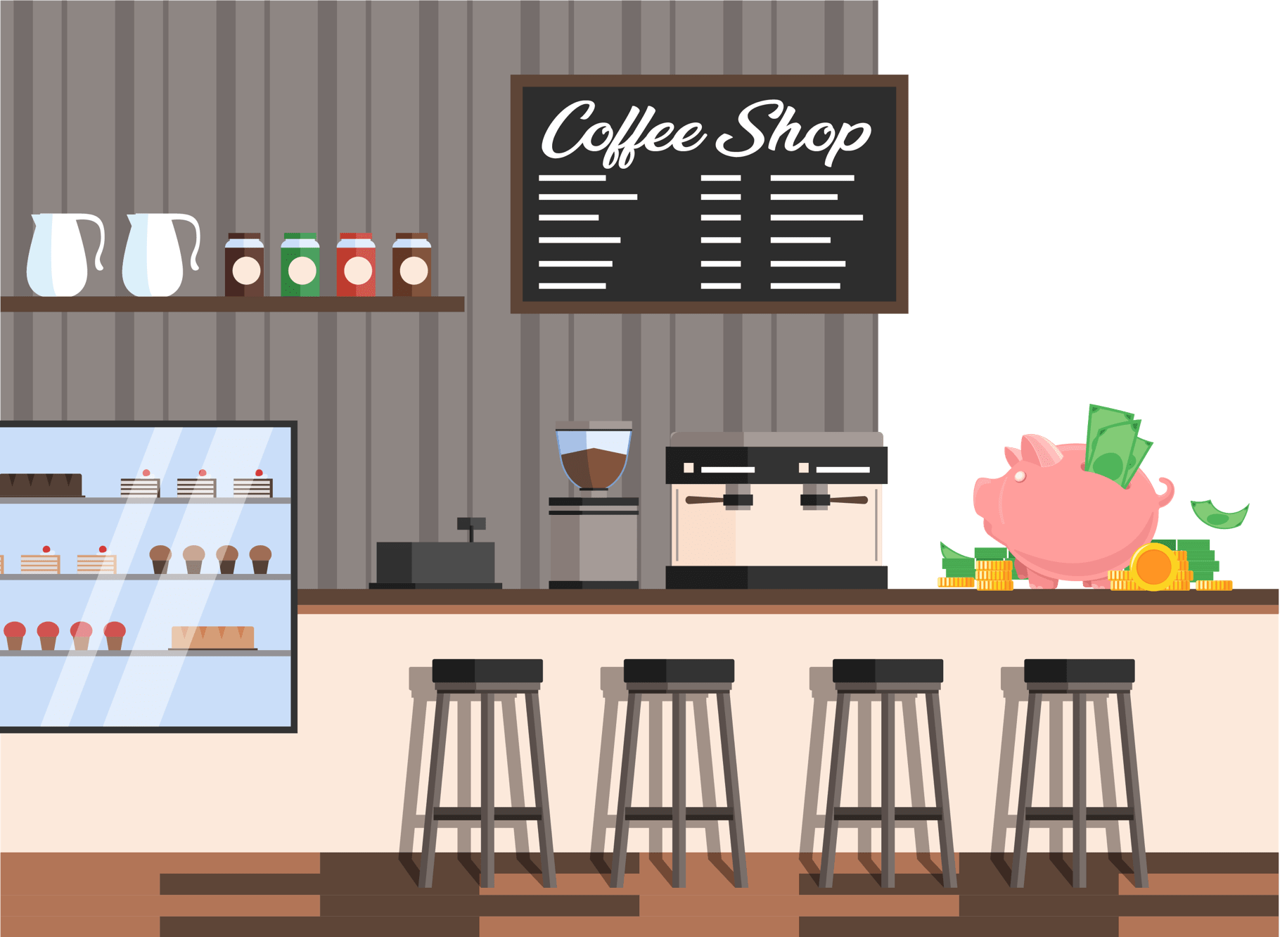 cost to open a coffee shop